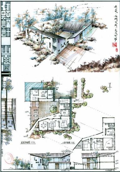 基础设计手绘图纸分享展示