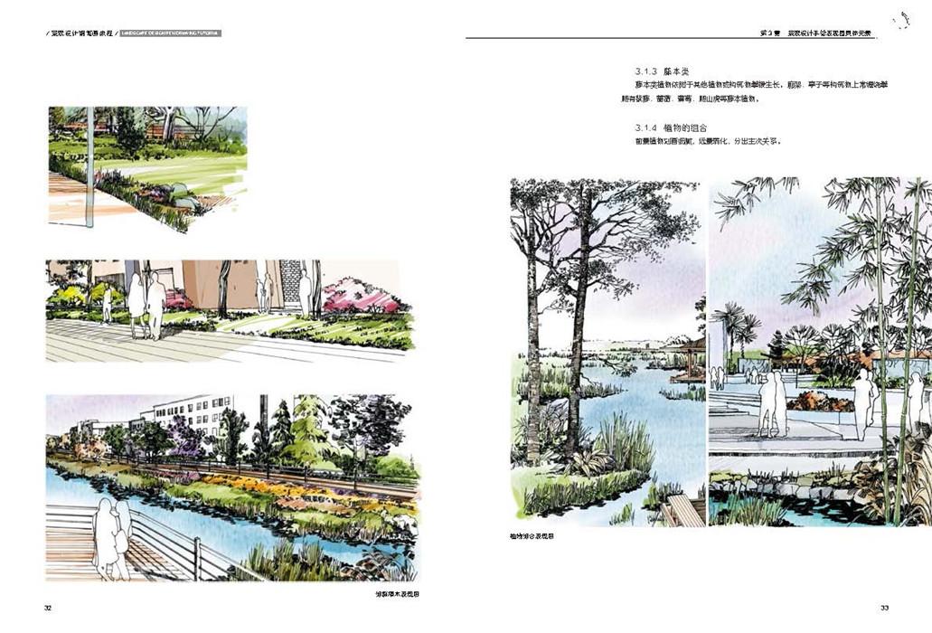 景观设计钢笔画教程-天津建筑图书-天津执考用书-天津