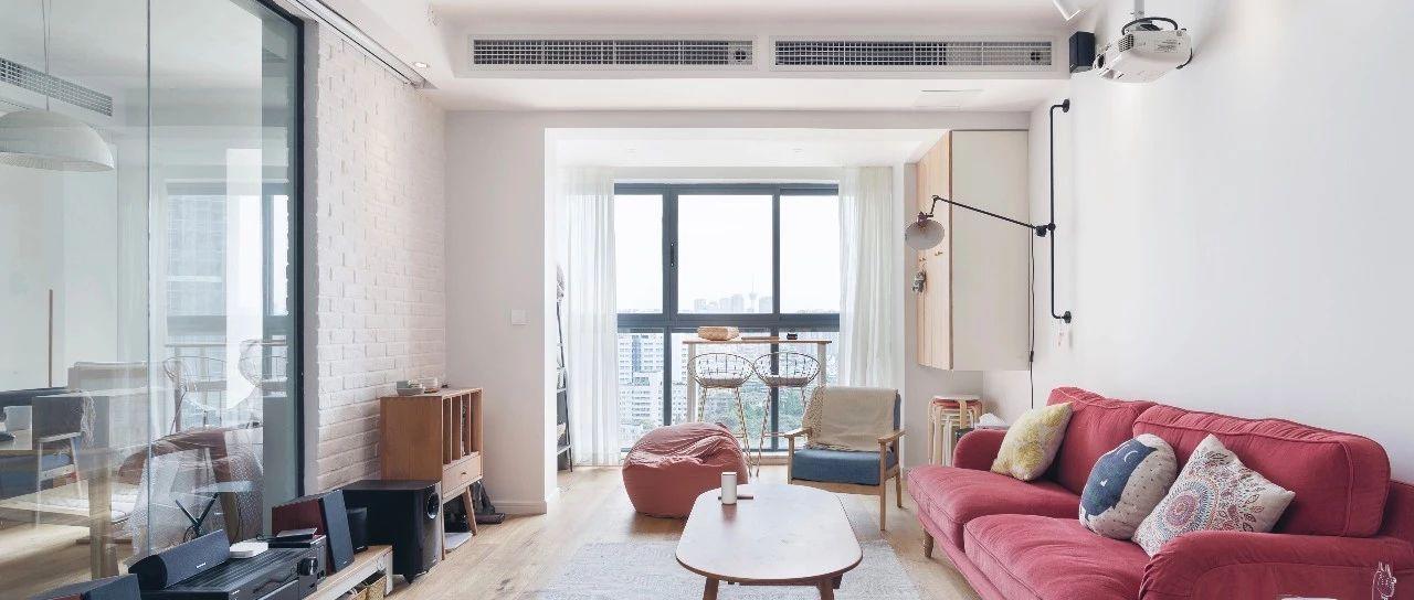 客厅有中央空调的,天花板可以这样吊