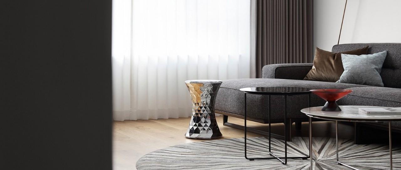 平层住宅 | 黑白缄默,优雅的气质空间